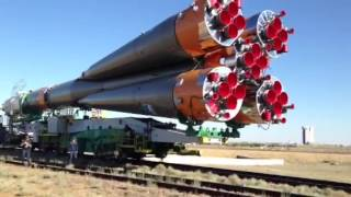 UND in Space: Soyuz rocket on train