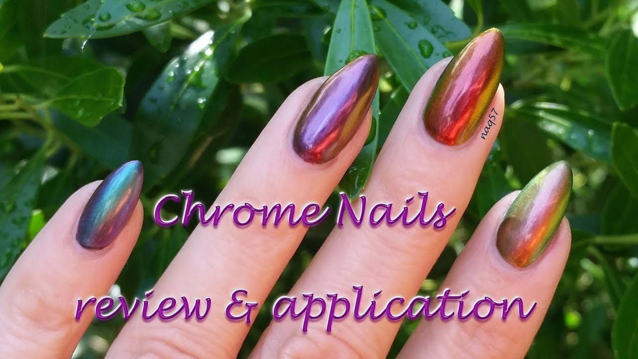 Aora Chrome nails, review, application, tips & removal - YouTube