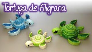 Tortuga marina de filigrana / Quilling sea turtle