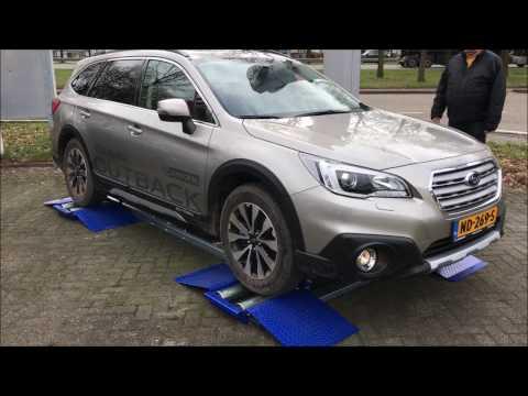 Roller test: Daihatsu Terios 4WD vs Subaru Outback AWD