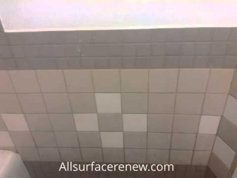 Refinishing Tile Floor And Walls Youtube