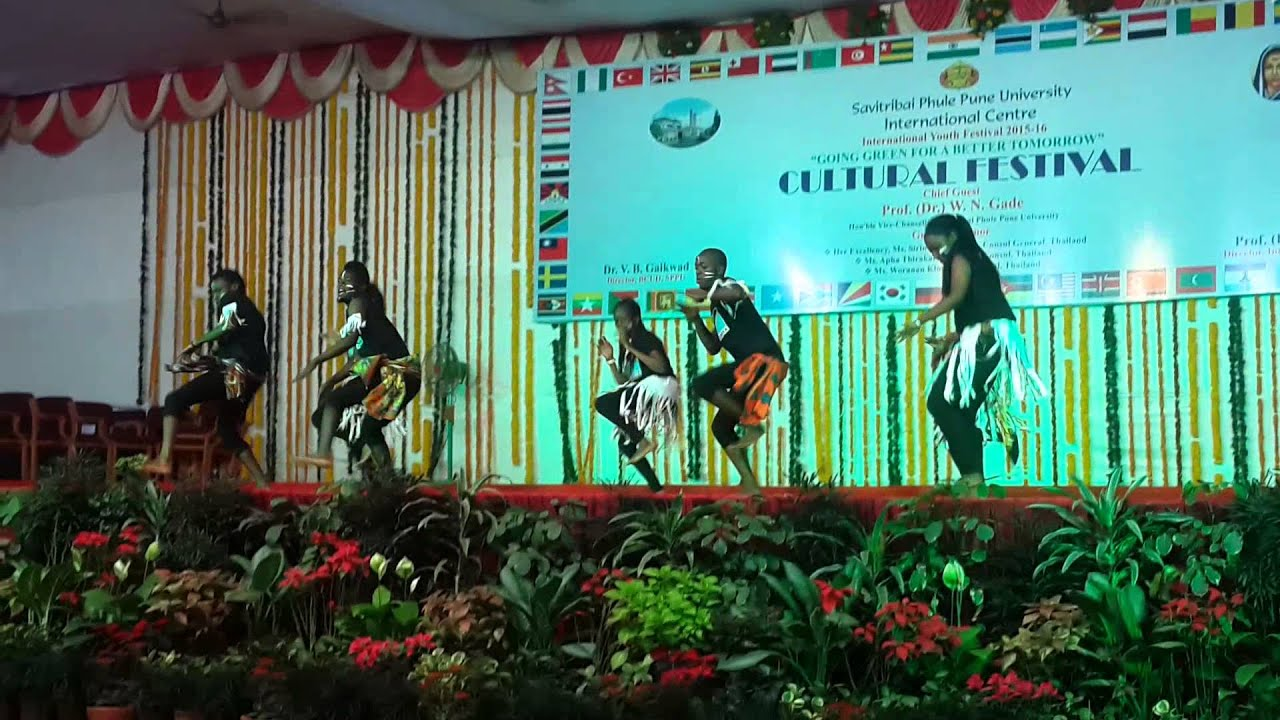 cultural festival international student from TANZANIA INDIA PUNE UNIVERSITY  2016