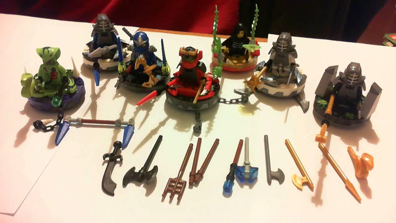 Lego NinjaGo 2012 Spinner Collection - YouTube