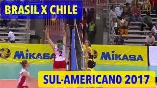 Brasil x Chile  - Sul-Americano Feminino de Vôlei 2017