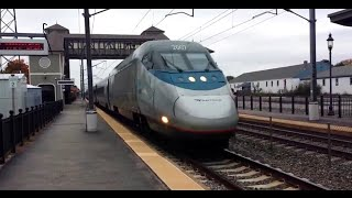 FASTEST ACELA I'VE EVER SEEN at Kingston Station