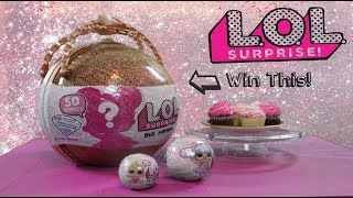LOL Big Surprise Giant Ball Giveaway Watch to Win + Unboxing Join Our Fun Cupcake Party!