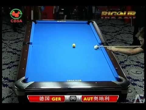 2014 World Pool Team Germany v Austria - Mixed 10-ball scotch double