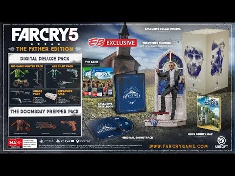 Far Cry 5 Father Edition Unboxing Eb Exclusive Youtube