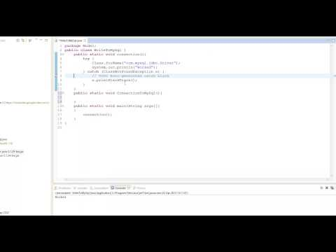 (Java | MySql) |  Connecting Eclipse to MySql Driver and MySQL database | Episode 1