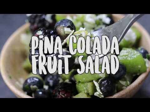 Pina Colada Fruit Salad with Vital Proteins Beauty Greens