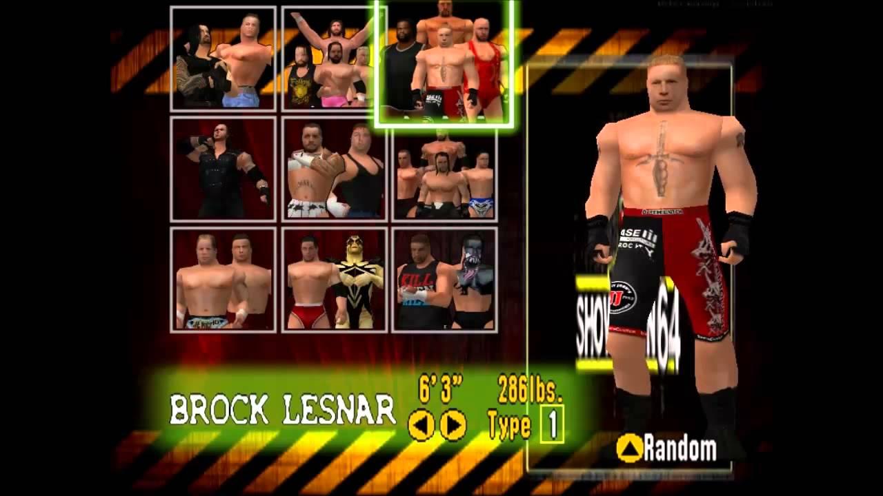 Showdown 64 - WWF No Mercy Mod for N64 (character screen)