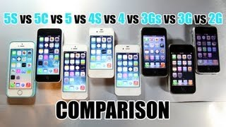 iPhone 5S vs 5C vs 5 vs 4S vs 4 vs 3Gs vs 3G vs 2G Speed Comparison Test