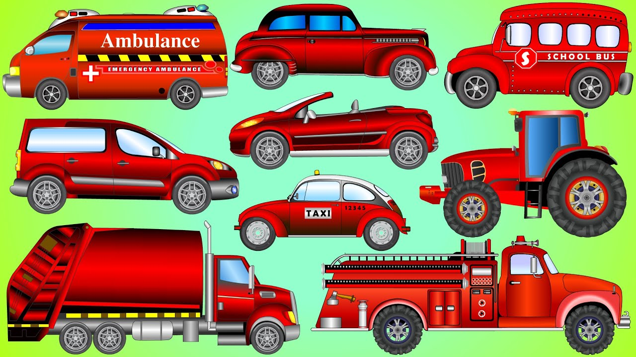 Street Vehicles Ep02 | Learning Color Street Vehicles Names And Sounds For Kids