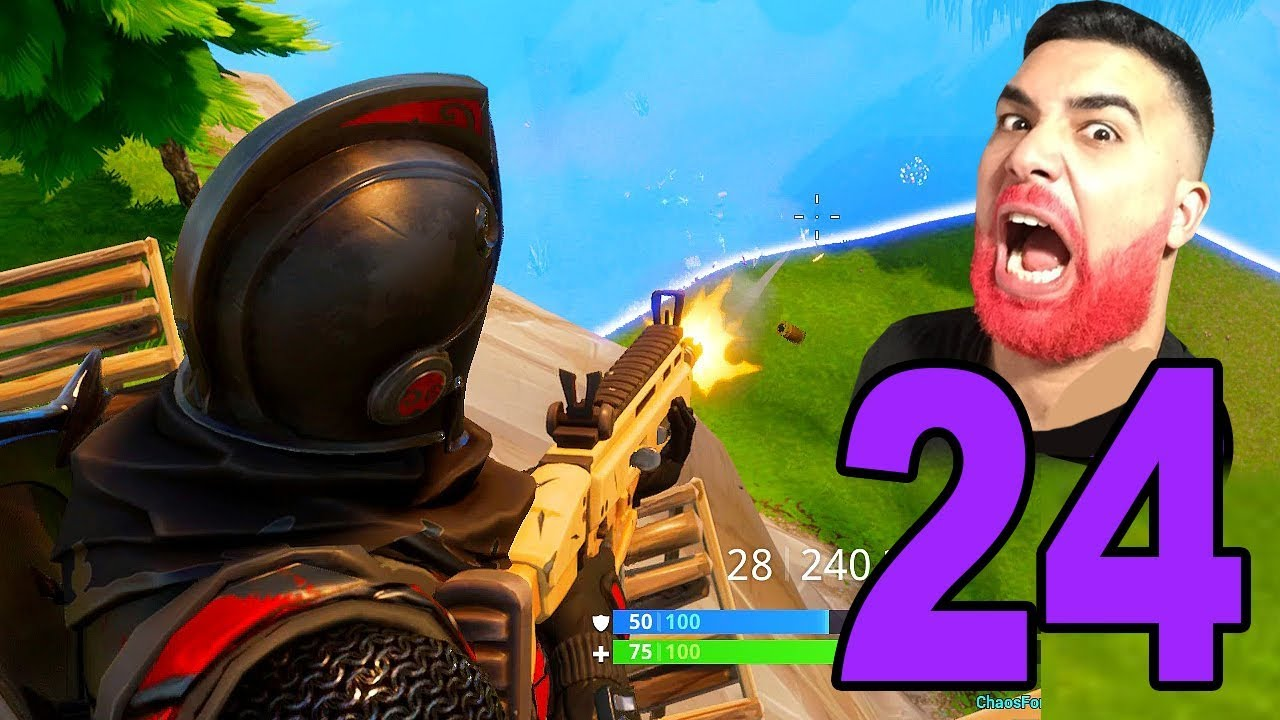 FIRST GAME WITH HOLLOWPOIINT! - Fortnite Battle Royale (Part 24) #1