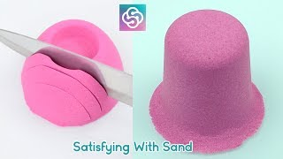 New Relaxing and Satisfying Kinetic Sand ASMR Video - Satisying with Sand
