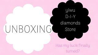 Diamond Painting - UNBOXING - yiwu D-I-Y diamonds Store on AliExpress