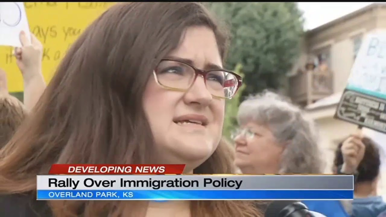 Immigration Protesters Rally Outside Rep. Yoderu0027s Office