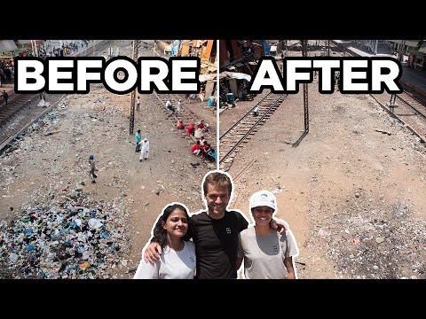 We Gathered 25+ People to Clean the SLUMS OF MUMBAI! 🇮🇳