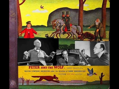 Prokofiev:Peter And The Wolf Koussevitsky&BSO wRichard Hale1939