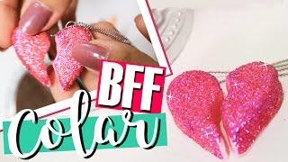 COMO FAZER COLAR DA AMIZADE COM GLITTER | BFF CHARM - O Blog da Ka ♥