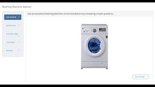 how to select washing machine in 2 minutes