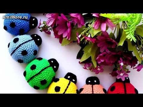 Амигуруми: схема Божья коровка. Игрушки вязаные крючком - Free Crochet Patterns.
