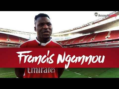 UFC fighter Francis Ngannou visits Emirates Stadium