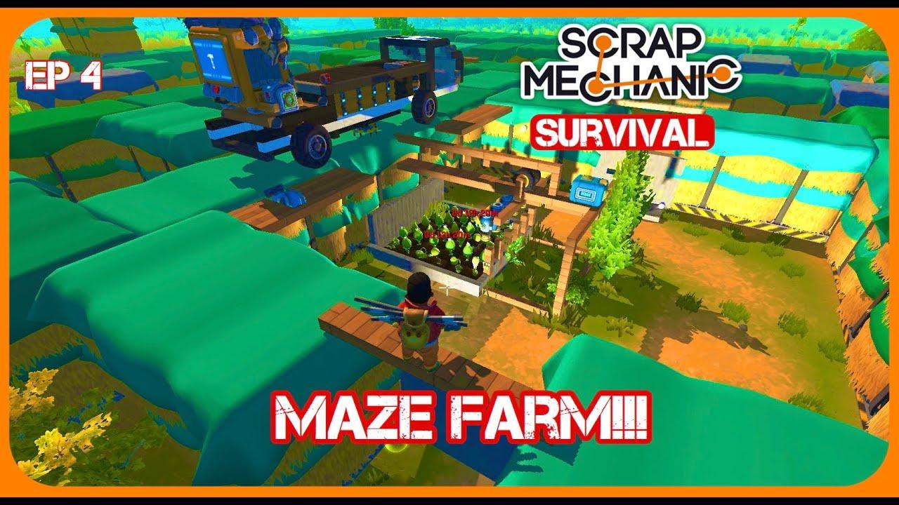 Download Farming Inside a Maze!! Is it op? | Scrap Mechanic EP 4
