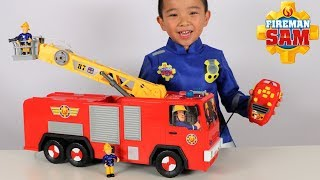 Fireman Sam Fire Engine Hero Jupiter Toy Unboxing Fun With Ckn Toys