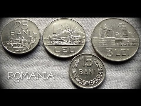 Coin collection | Romania (Europe) | 4 coins ( Bani / Lei ) from 1966