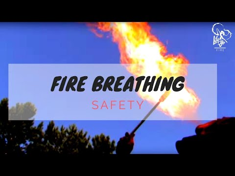 Fire Breathing tutorial - How to breath fire safety