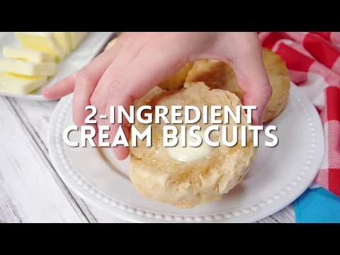 How To Make: 2-Ingredient Cream Biscuits