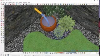 Simple Garden Design Process with Sketchup