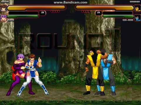 Mugen Battle: Kasumi & Ayane vs Scorpion & Sub-Zero