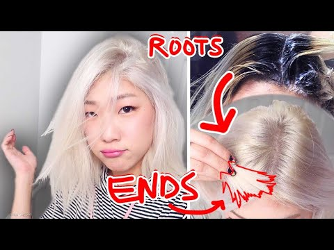 HOW TO BLEACH BLACK TO PLATINUM ROOTS IN 2 HOURS (it worked!!)