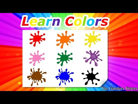❤️💚💜💛💙🤎Learn colors, children, kids, preschool, toddler | educational videos #stayhome #withme