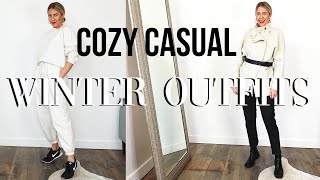 HOW TO STYLE COZY CASUAL WINTER OUTFITS | Lindsay Albanese