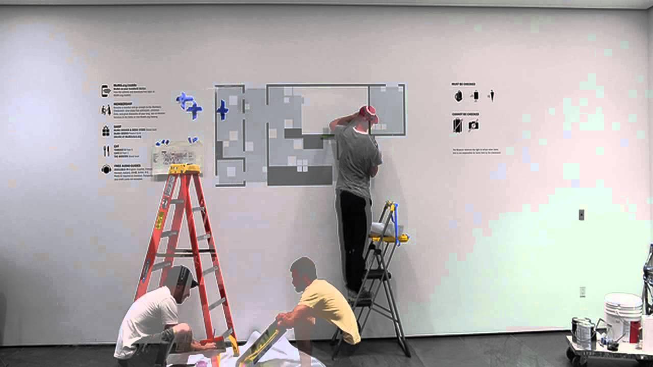Screen Printing On Walls At Moma Youtube