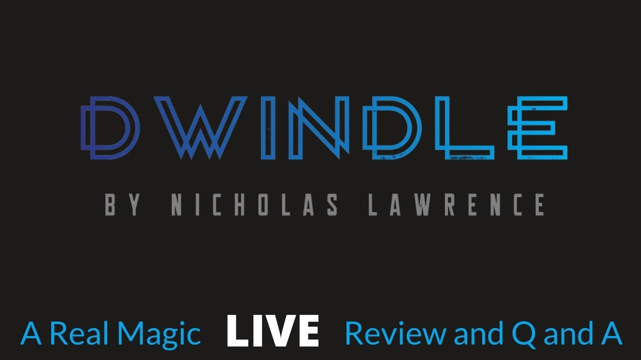 Dwindle by Nicholas Lawrence Live Review and Q and A - YouTube