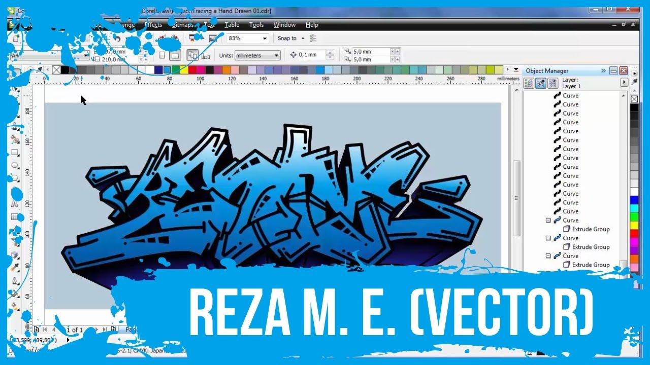 Tracing A Hand Drawn To Vector Reza M E Coreldraw Primscdr