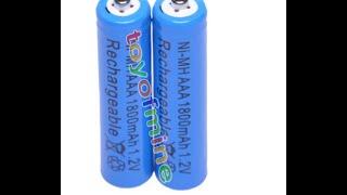 Обзор AAA 1800mAh 1.2V Ni-MH Rechargeable battery 3A Blue