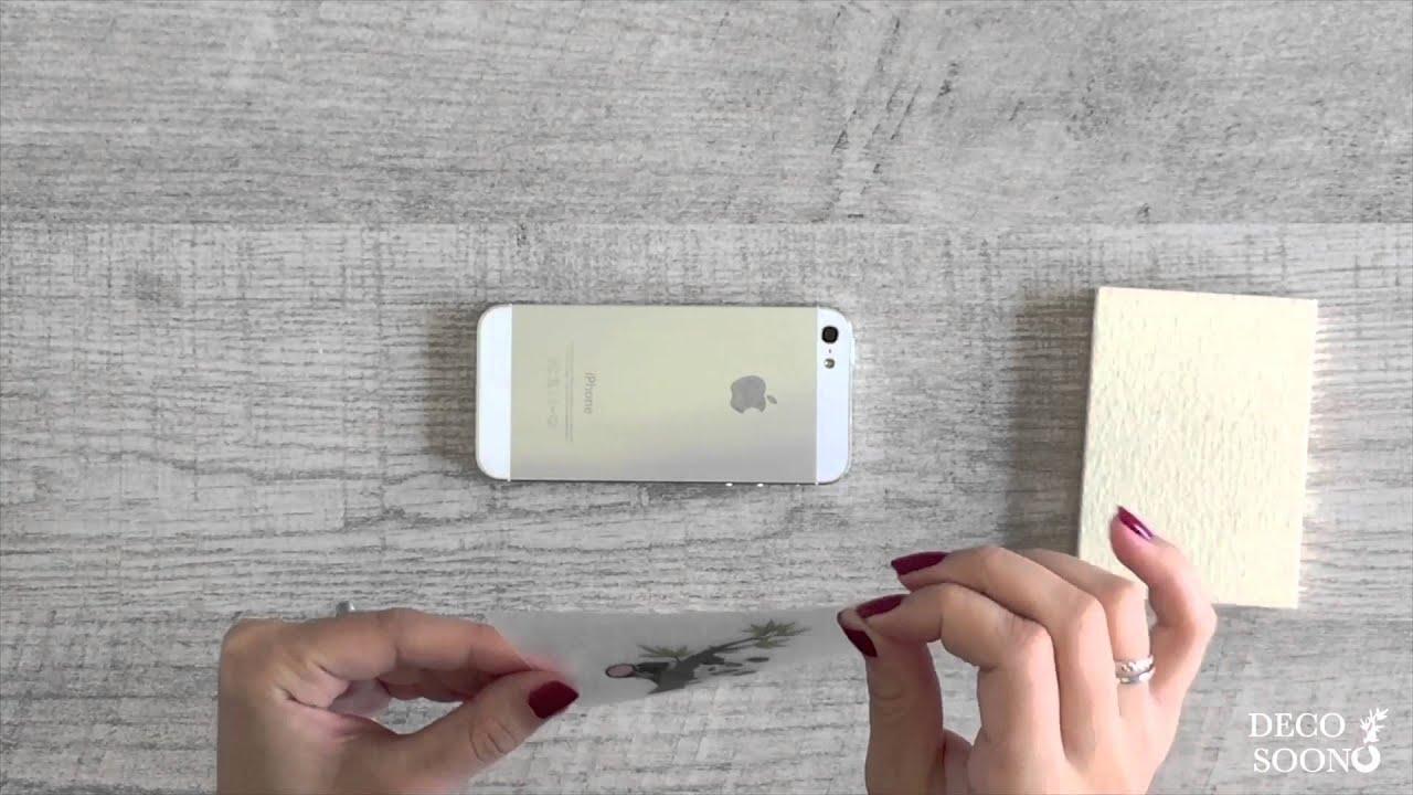 comment poser un sticker sur un iphone deco soon youtube. Black Bedroom Furniture Sets. Home Design Ideas