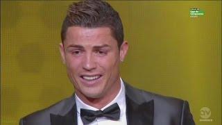 Cristiano Ronaldo EMOTIONAL After He Wins FIFA Ballon dOr 2013 (HD)