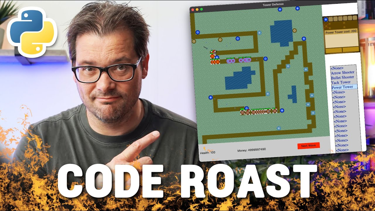 Refactoring A Tower Defense Game In Python // CODE ROAST