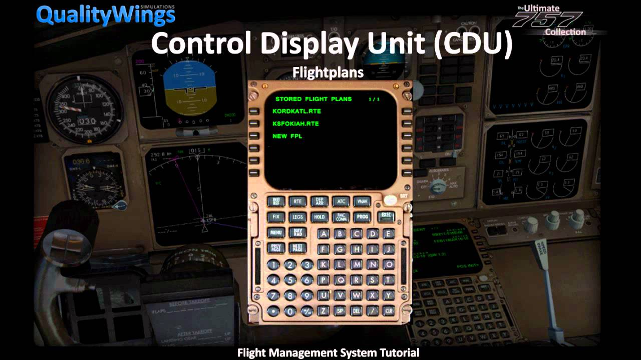 Qualitywings Simulations B757 Fmc Tutorial Youtube