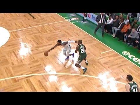 Kyrie Irving SICK Crossovers On Bledsoe & Middleton - Game 3   Celtics Vs Bucks   2019 NBA Playoffs
