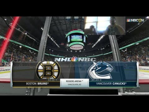 NHL 18 GamePlays w/ Tom (PS4) BOS @ VAN Game 56 SEX OFFENDER STORY