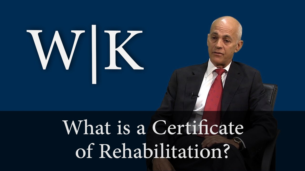 Certificate of Rehabilitation in California