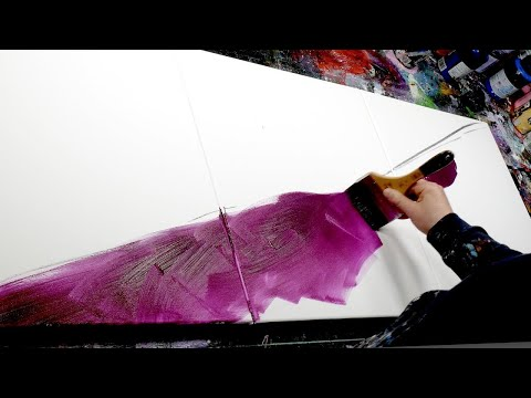 Abstract Painting demonstration in Acrylics | Nero