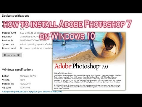 How To Install Photoshop 7 On Windows 10